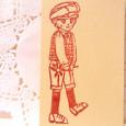 ハンチング帽の男の子