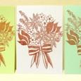 ストライプリボンの花束