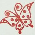 蝶-水玉模様の羽